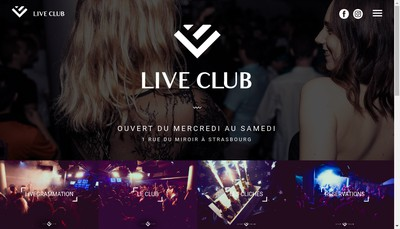 Site internet de Live Club