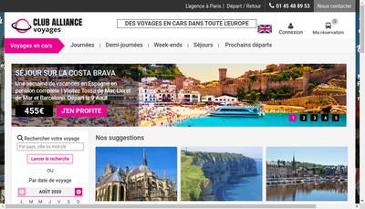Site internet de Club Alliance Voyages
