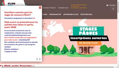 Site internet de Club des Enfants Parisiens