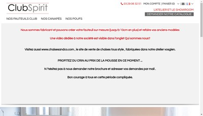 Site internet de Atelier Clubspirit