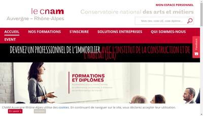 Site internet de Association de Gestion du Conservatoire Nation des Arts et Metiers Auvergne-Rhone-Alpes