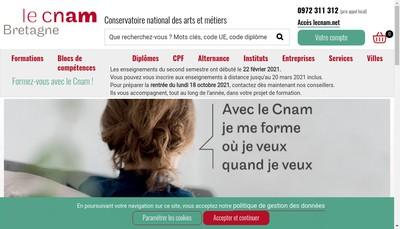 Site internet de Cnam Bretagne - Agcnam