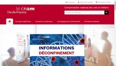 Site internet de Arcnam Ile de France