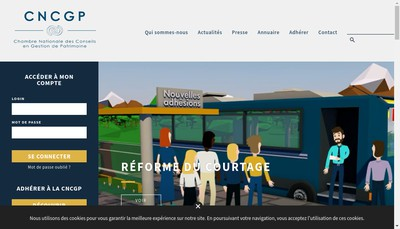 Site internet de Chambre Nationale des Conseils en Gestion de Patrimoine Cncgp - Formations