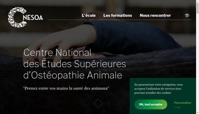 Site internet de Centre National d'Etudes Superieures d'Osteopathie Animale C-Nesoa
