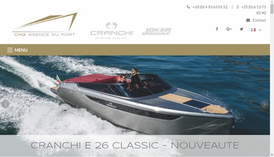 Site internet de Chantiers Navals du Golfe Agence du Port