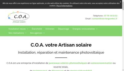 Site internet de Avenir Energies Nouvelles
