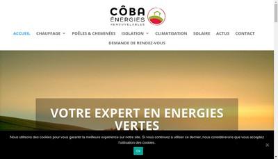 Site internet de Coba Energies Renouvelables