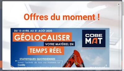 Site internet de Cobemat
