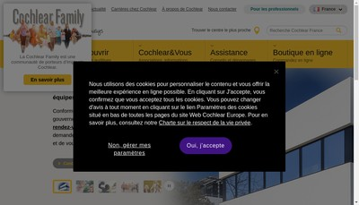 Site internet de Cochlear France