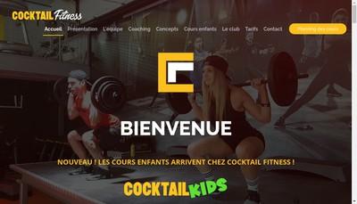 Site internet de Cocktail Fitness