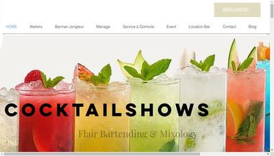 Site internet de Cocktailshows