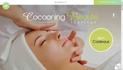 Site internet de Cocooning Beaute