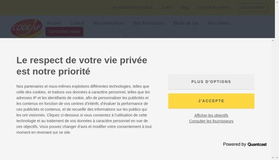 Site internet de Codeaf