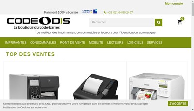 Site internet de Codeodis