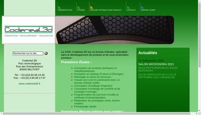 Site internet de SARL Codereal 3 D