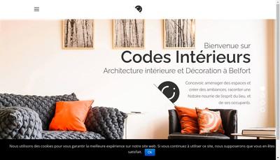 Site internet de Codes Interieurs