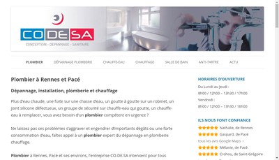 Site internet de SARL Co de SA