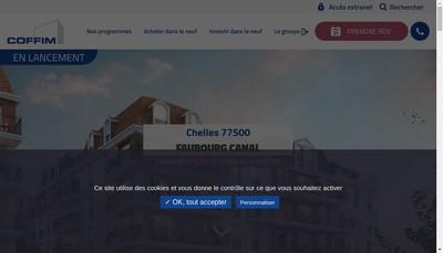 Site internet de Coffim Groupe