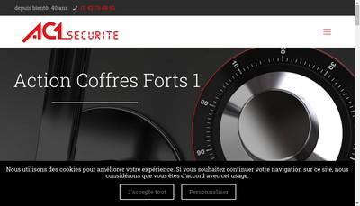 Site internet de Action Coffres Forts No 1 Securite