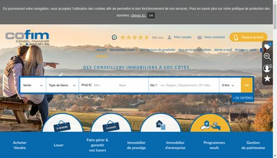 Site internet de Cofim Confinvest Cofiphar