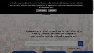 Site internet de Comite Francais d'Accreditation
