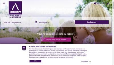 Site internet de Cogedim Entreprise