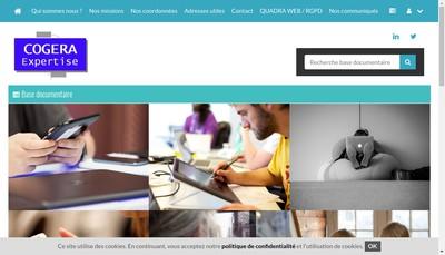Site internet de Cogera Expertise
