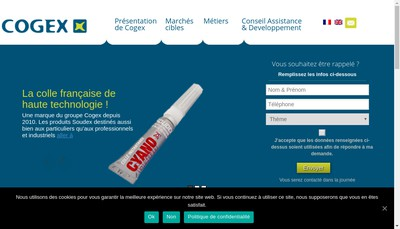 Site internet de Cogex Developpement