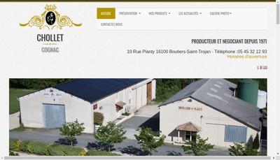 Site internet de Cognac Chollet Distillerie du Planty