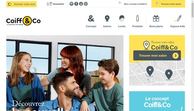 Site internet de Coiff And Co