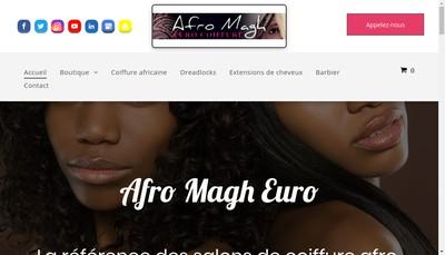 Site internet de Afro Mag Euros