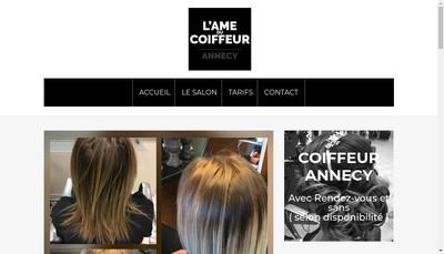 Site internet de L'Ame du Coiffeur