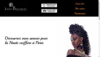 Site internet de Jordy Brechkoff Coiffeur de Paris