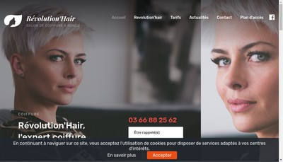 Site internet de Revolution'Hair