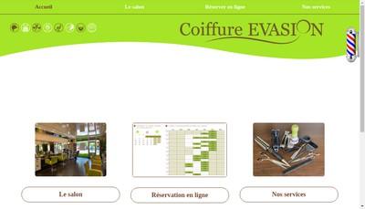 Site internet de Coiffure Evasion