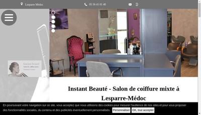 Site internet de Sensey Coiffure
