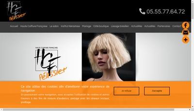 Site internet de Pelissier Haute Coiffurefrancaise