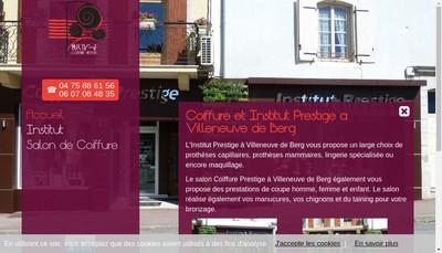 Site internet de Coiffure Prestige