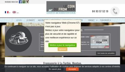 Site internet de Le Coin du Fromager