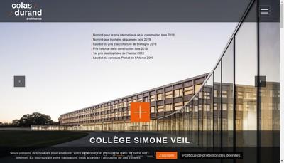 Site internet de Colas Durand Architectes
