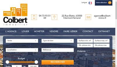 Site internet de Citya Colbert Immobilier