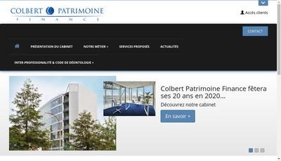 Site internet de Colbert Patrimoine Finance