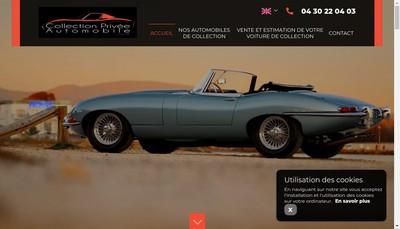 Site internet de Collection Privee Automobile
