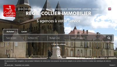 Site internet de Collier Immobilier