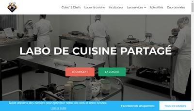 Site internet de Coloc'2 Chefs