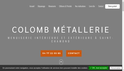 Site internet de Colomb Metallerie Serrurerie Th Julien - B Colomb
