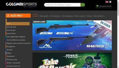 Site internet de Colombi Sports Importateur Distributeur