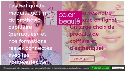Site internet de Color Beaute