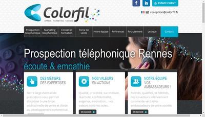 Site internet de Colorfil